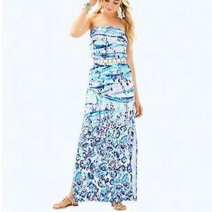 Lilly Pulitzer Mika Maxi Dress blue current M